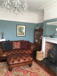 Brown And Blue Living Room Mesmerizing An Inspirational Image From Farrow And Ball Oval Room Blue Again