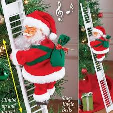 Single <b>ladder electric climbing</b> bead curtain <b>climbing stairs Santa</b> ...
