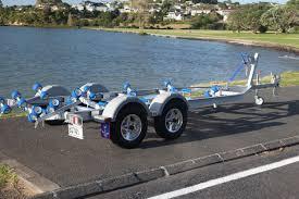 spitfire trailers spitfire aluminium trailers 6 9 metre 2000kg braked dual axle multi roller boat