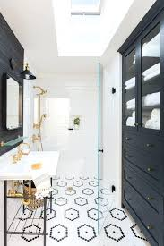 Bathroom Tile Floor Patterns Custom Bathroom Pinterest Inside A Refreshing Home With Bursts Of Sage And