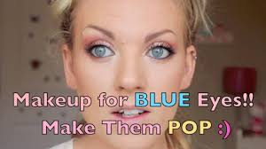 peach copper makeup tutorial make blue eyes pop
