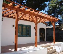 house image of design pergola attached to plans building kits