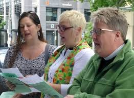s Place Pastor Monica Corsaro, and Liz McDaniel help lead the Dedication. –  Leaves of Remembrance