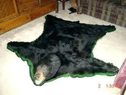 faux bear skin rug bearskin real bytes fake with head black for nursery fur plush polar