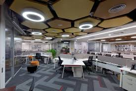 office by design. The Spatial Layout Majorly Has A Central Core With All Closed Spaces Workstations Enveloping In An L Shaped Profile, Reading Office By Design