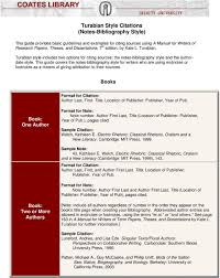 Turabian Style Citations Notes Bibliography Style Pdf