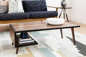 wood steel coffee table metal frame mid