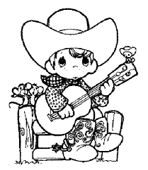Small Picture Cowboy coloring pages playing guitar ColoringStar