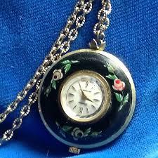 lucerne handpainted necklace watch