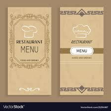 Restaurant Menu Book Design Restaurant Menu With Drinks And Food Templates