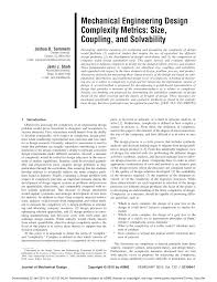 Mechanical Design Domains Pdf Developing Measures Of Complexity For Engineering Design