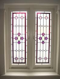 stained glass timber window