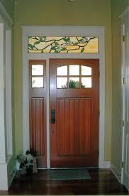 custom stained glass transom above the front door created by designer art glass daytona beach fl