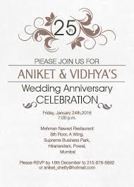 22 best 25th silver wedding anniversary invitation wordings images silver jubilee anniversary cards