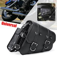 universal motorcycle motorbike side bag saddlebags pouch pu leather tool luggage for harley sportster 04 up 29x11x26cm com