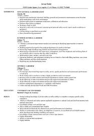 General Laborer Resume Samples Velvet Jobs With Laborer Job