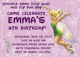 colors tinkerbell birthday invitations tinkerbell and periwinkle birthday invitations