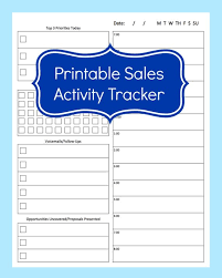 Salesman Tracking Forms Sales Activity Tracker Daily Planner Cold Call Tracker