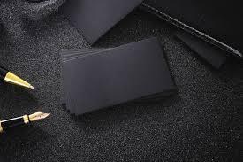 Black Business Background Blank Black Business Card Mock Up Black Background For Use Us