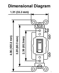 leviton 1201 plr sm sp switch pilot light dimensional drawing · wiring diagram