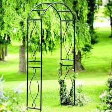 panacea curve metal garden arch 7 5 x 3