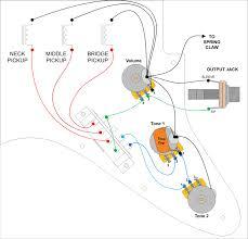 basic electric guitar circuits 3 switches & output jacks Basic Electric Guitar Wiring Diagrams standard stratocaster wiring electric guitar wiring diagrams