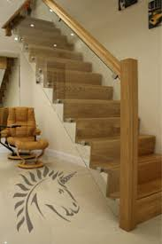 ... z-vision oak and glass staircase modern design