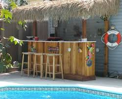 Pool house tiki bar Patio Does Your Backyard Beach Getaway Include Bar Look At These Fun Tiki Bars And Beach Bars they Provide The Perfect Spot To Sip On Your Su Pinterest Beach Tiki Bar Ideas For The Home Backyard In 2019 Backyard