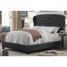 felisa upholstered panel bed. Exellent Upholstered Mulhouse Furniture Felisa Upholstered Wingback Panel Bed With N