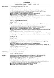 Ticket Sales Resume Samples | Velvet Jobs