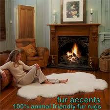 Faux Bearskin Rug Rugs Make You Feel Like You Are Petting An Artic Polar Bear With