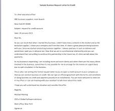 Business Request Letter for Credit w=640