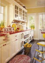 No-Fail Kitchen Color Combinations | Golden yellow, English manor and Red  accents
