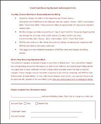 Resume Lovely Credit Card Authorization Form Template High Payment ...