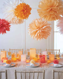 tissue paper flower centerpiece ideas pom poms and luminarias video martha stewart