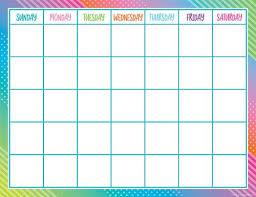 Colorful Vibes Calendar Chart