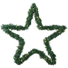 Weihnachtsstern 60 Cm Mit Girlande Und 80 Led Lichterkette Für Außen