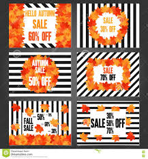 set of autumn banners and promotional flyer templates stock set of autumn banners and promotional flyer templates
