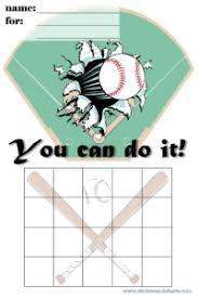 Baseball Charts Printable Baseball Charts For Kids Sports Reward Charts