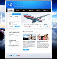 website template for airlines company