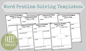 Math Templates Math Word Problems How To Really Help Kids Free Printable Pages