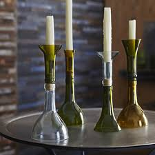 Recycled Bottle Candle Holder - set of 4