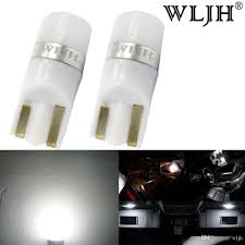 wljh car light t10 led w5w bulb 3030smd 194 168 led wedge lights interior dome side marker license plate light for auto rv led lights in cars led lights on