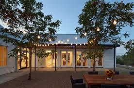 solar string lights outdoor with steel trellis backyard string lighting ideas