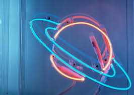 Planet Neon Light Image About Pink In Neon Lights