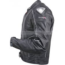 mens black vulcan jacket armored leather motorcycle