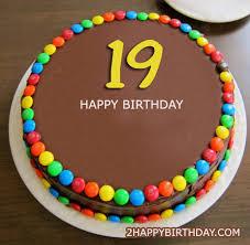 Happy 19th Birthday Cake With Name Editor 2happybirthday