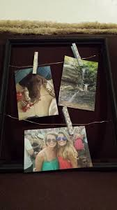 picture of how to make personalized wire and clothespin picture frame