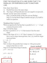 find the equation of a line given two points we need a point and a slope 3 find