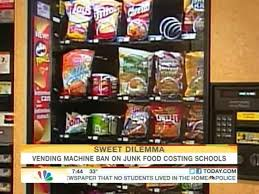 Junk Food Vending Machines Delectable Junk Food Ban Costing Schools